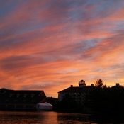 Sunset over The Wharf Gravenhurst
