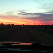 Morning sky leaving Winkler to Altona