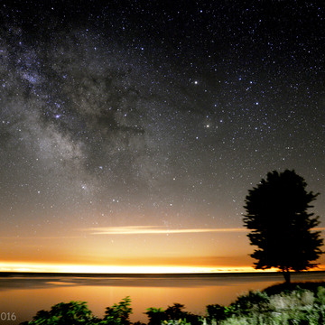 The Milky way along with Saturn and Mars