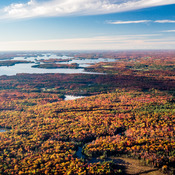 Beautiful Lake Muskoka with Fall Colours