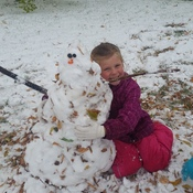 first snow fall = first snowman
