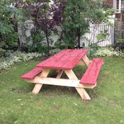 Picnic table ready for winter