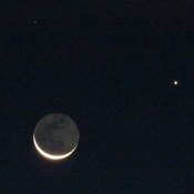 One moon and two stars make a heavenly hattrick.