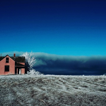 Abandoned Farm House near Hanna, AB