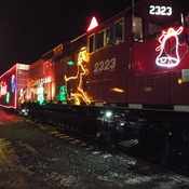 mild weather for the holiday train