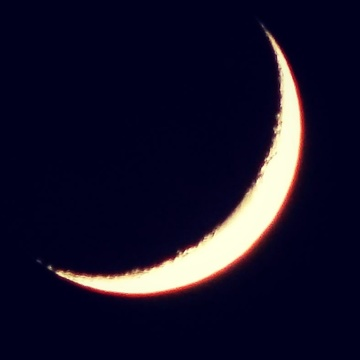 Tonight's Crescent Moon