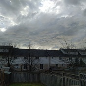 Weird morning Clouds