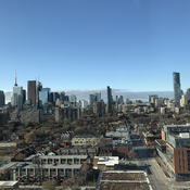 Blue skies over Toronto