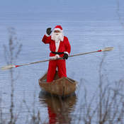 Santa on Richibucto River