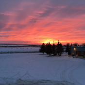 Sunset in Wabasca