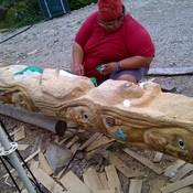 Carving totem poles