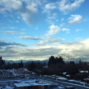 Vancouver's snow capped mountains