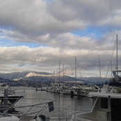 Bright cold winter day in Coal Harbour
