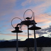 frozen fountain in Osoyoos