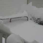 Road Hockey Cancelled until April. Net under snow after 3 days straight of snow.