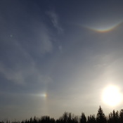 Complex sun dog. Can anyone explain this?
