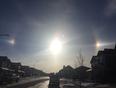 Beautiful aureola around the sun