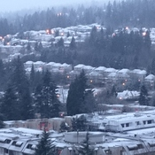 First Snow of The year at Coquitlam
