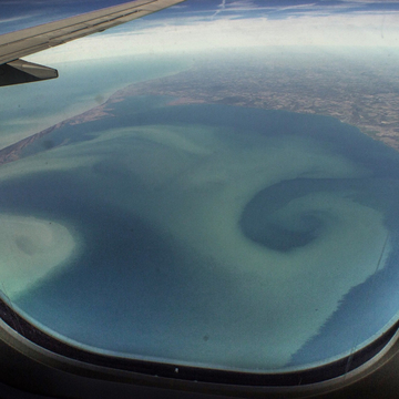 Looking at Lake Erie from our Sunwing plane last week going to Jamaica.