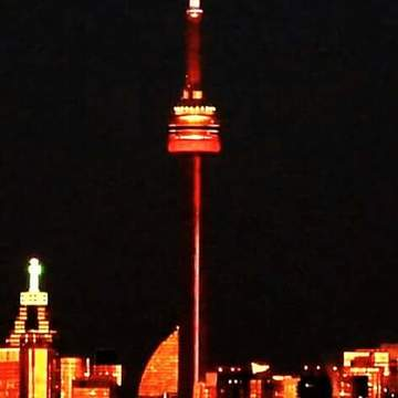 Burgandy & Gold Cn Tower