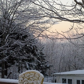 sunrise and snow in Dartmouth