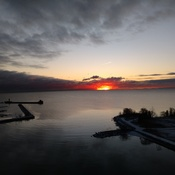 SUNRISE - DEC 9 OVER PORT CREDIT ON
