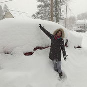 SUV buried in snow!