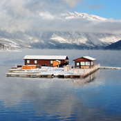 Lake Minnewanka prepares to Freeze