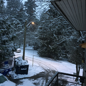 Snowy afternoon in New Westminster, BC