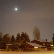 Beautiful snowy evening in Abbotsford 😊