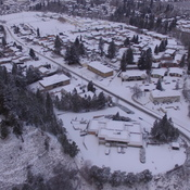 High resolution drone imagery showing Penticton's first snowfall.
