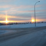 Sunrise in Blackfalds, Alberta
