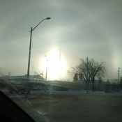 sun dogs, Saturday morning in Edmonton