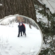 Snowshoeing at Jay Peak, Vermont