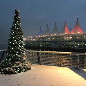 Snow at Canada Place