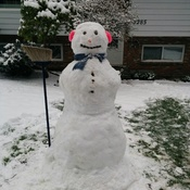 Frosty the Snowman in Comox