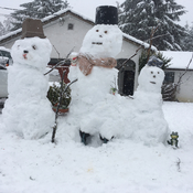 My snow family