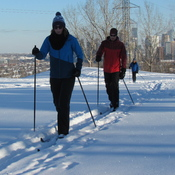 PERFECT DAY FOR X-C SKIING IN CALGARY!!!!