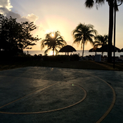 Sunset from the basketball court!