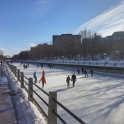 Fine day for skating on the Rideau Canal