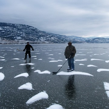 Skating on Skaha Lake