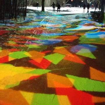 """Kaleidoscope Skating"" At Victoria Park Freezeway"