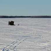 Ice Fishing on Gregoire Lake