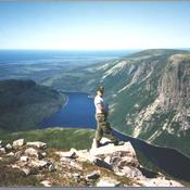 Myself on top of Mount Gros Morne Newfoudland in 1988.