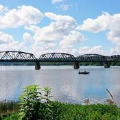 New Brunswick Walking Bridge In Fredericton