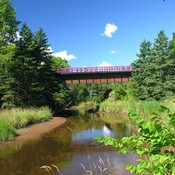 Prince Edward Island Brudenell River Bridge On The Confederation Trail