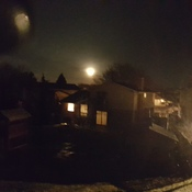 Moon on a hazy night