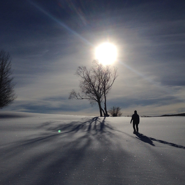 Snowshoe at Blomidon Golf Course. Taken by Tammy Barry