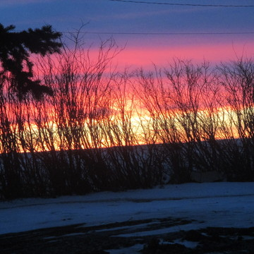 Sunrise in Eston, SK, Canada