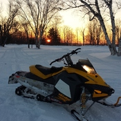beautiful night of sledding.